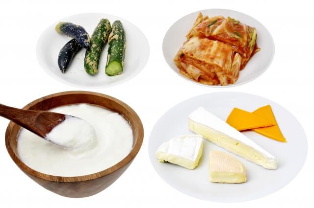 乳酸菌とはヨーグルト、チーズ、ぬか漬け、キムチに含まれている
