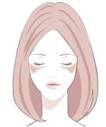 顔のシミの種類肝斑(かんぱん)