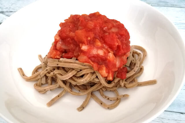 ベースパスタのおいしい食べ方レシピアマトリチャーナ